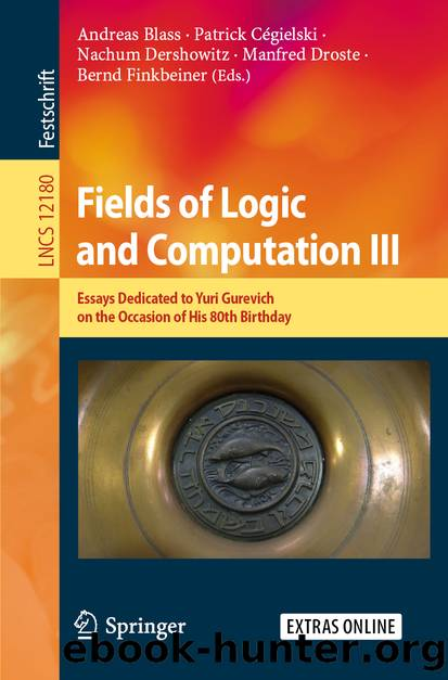 Fields of Logic and Computation III by Unknown