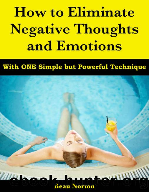 How to Eliminate Negative Thoughts and Emotions with One Simple but Powerful Technique by Beau Norton