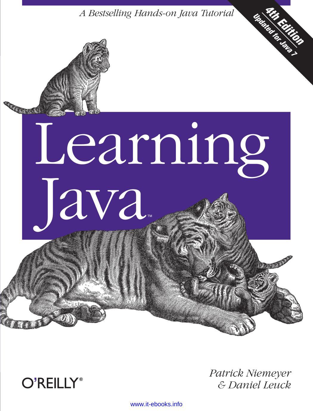 Learning Java by Patrick Niemeyer & Daniel Leuck
