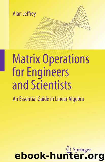 Matrix Operations for Engineers and Scientists by Alan Jeffrey