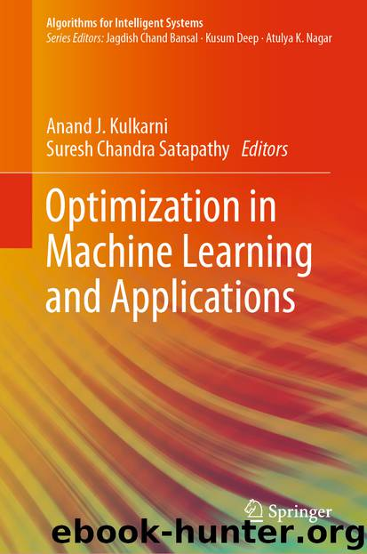 Optimization in Machine Learning and Applications by Unknown