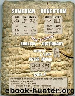 Sumerian Cuneiform English Dictionary 12013CT by Peter Hogan