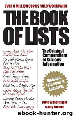 The Book Of Lists by Wallechinsky David & Wallace Amy