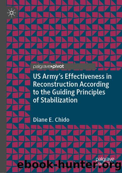 US Army's Effectiveness in Reconstruction According to the Guiding Principles of Stabilization by Diane E. Chido