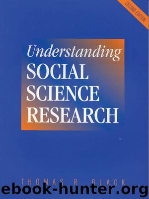 Understanding Social Science Research by Black Thomas R.;