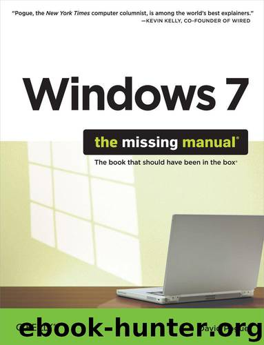 Windows 7: The Missing Manual by Pogue David